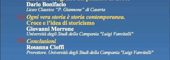 """La Società Dante Alighieri e il Liceo Giannone di Caserta celebrano """"Benedetto Croce"""""""