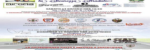 """""""V Memorial Luigi Ciaramella, Mario Grieco, Valerio Castiello e tutte le vittime della strada"""": Aversa accoglie la manifestazione per la sicurezza stradale"""